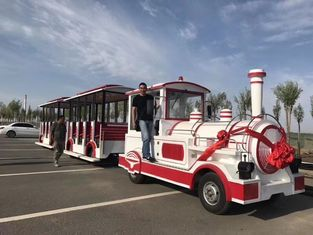 China Theme Park Electric Trackless Train Trackless Kiddie Train Customize Color supplier