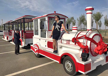China 72 Seat Excursion Trackless Train Ride 4m×1.65m×2.5m Train Head supplier
