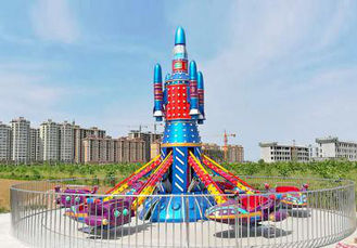 China 7.5m / 7.8m Height Theme Park Rides 8 Arms 8000w Total Power Stable Running supplier