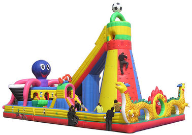 China Children's playground equipment inflatable castle environmental Dolphin world supplier