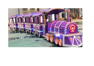 China Colorful Electric Trackless Train Kids Party Train ISO9001 3.4 * 1.2 * 2.1 M factory