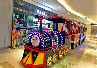 China Amusement Park Electric Trackless Train 220V outdoor Fiberglass Material factory