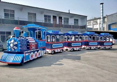 China Thomas Outdoor Electric Trackless Train Tour Carousel Machine In Blue Color distributor