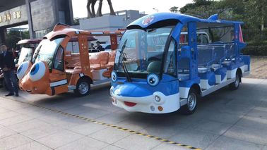 China 14 SEATS  Electric Cartoon Sightseeing Bus power 72v7,5kw speed  28km/h factory