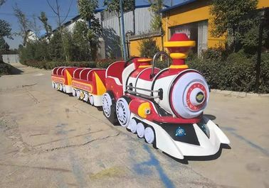 China Handsome toot electric trackless train FRP Power 1.2KW 13 SEATS distributor